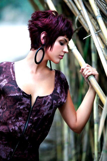Super Plum Color The Shape And The Hook On Pinterest Short Hairstyles Gunalazisus