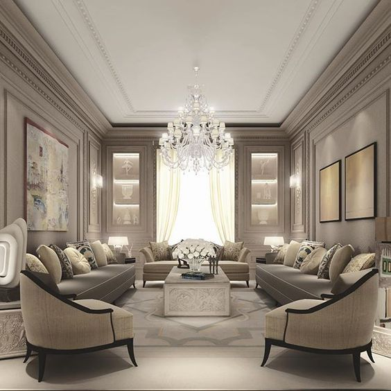 Residential Projects Abudhabi Qatar Dubai Traditional Spaces Other Elegant Living Room Design Elegant Living Room Luxury Living Room