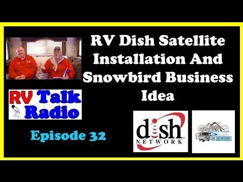 RV Dish Satellite Installation & RV Snowbird Business Idea | RV Living| ...
