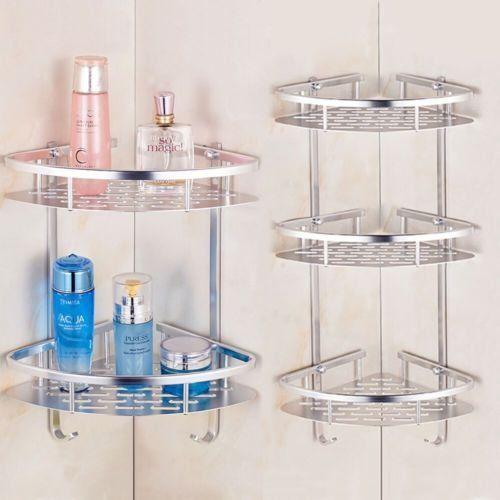 Triangular Shower Caddy Shelf Bathroom Corner Bath Rack Storage Holder O 3 Pound