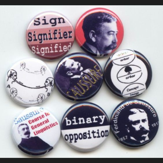 Ferdinand de Saussure Swiss, Linguist,  Semiotician, Semiotics pinback button set or Fridge Magnets by Yesware11 on Etsy.. Click for details!