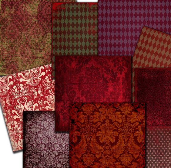 Red Wine  Paper  12 x 12 in damask paper  by MemoriesPictures, $3.90
