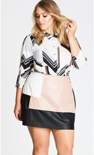 Jagged Stripe Shirt from City Chic