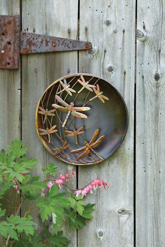 3D Wall Art: Metal Dragonfly Wall Art - Outdoor Metal Wall Art: