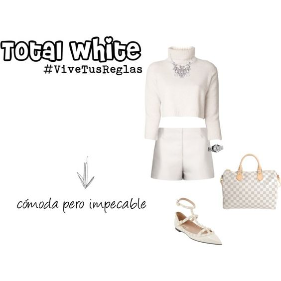 """total white shorts"" by tres-chic-by-paulina on Polyvore"