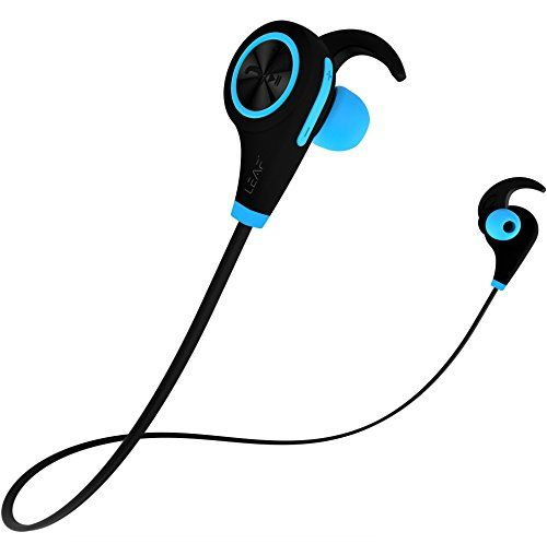 Leaf Ear Wireless Bluetooth Earphones With Mic And Deep Bass Cool Blue With Images Bluetooth Earphones Wireless Bluetooth Earphone