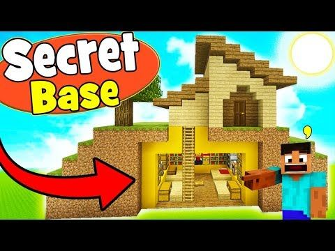 Minecraft Tutorial How To Make A Survival House With A Secret Underground Hidden Base Youtube Minecraft Tutorial Heart Healthy Dinners Survival