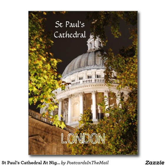 St Paul's Cathedral At Night Postcard
