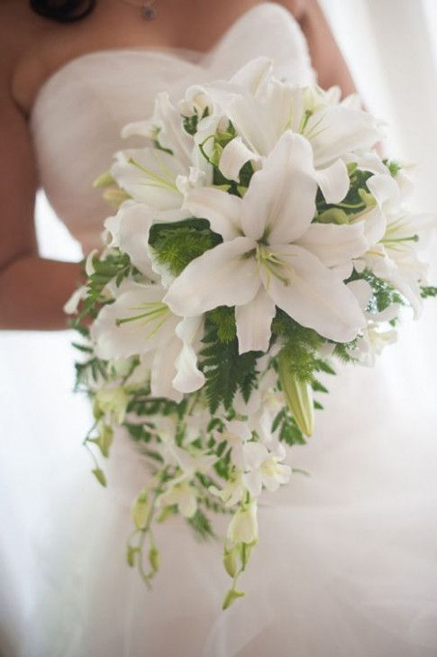 oriental lily bouquet flowers bouquets pinterest #WeddingBouquets #LilliesGiftIdeas