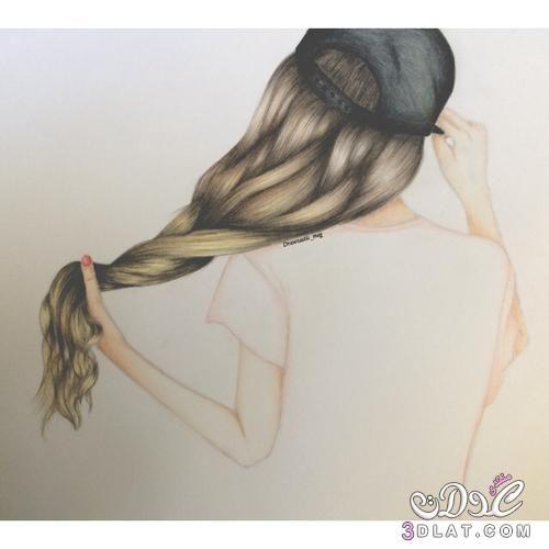مرسومة 2018 رسومات بنات ملونة2018 مرسومة 3dlat Net 17 17 05c5 Female Sketch Drawing Sketches Drawings