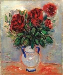 reuven rubin | Reuven RUBIN , Flowers in a Vase