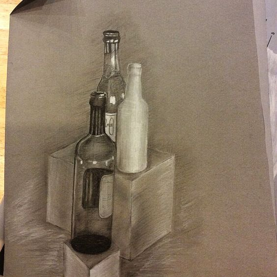 gray paper drawing