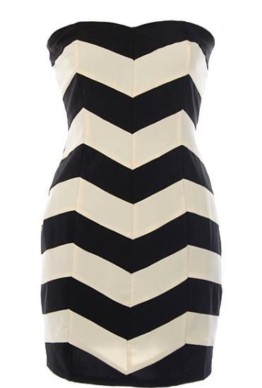 Chevron Sweetheart Dress- opening up the blinds to spring!