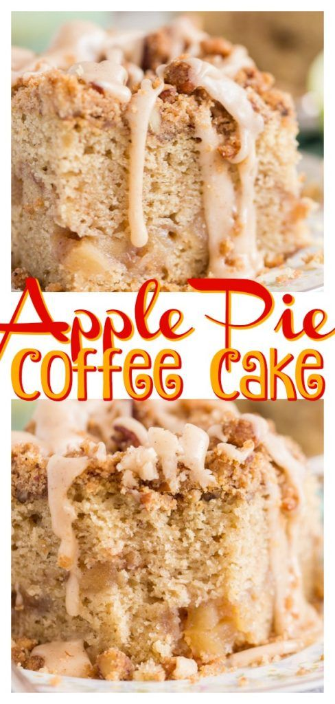 Moist Tender Classic Sour Cream Coffee Cake Swirled With Homemade Apple Pie Filli Apple Pie Filling Cake Recipe Apple Coffee Cakes Apple Pie Filling Recipes