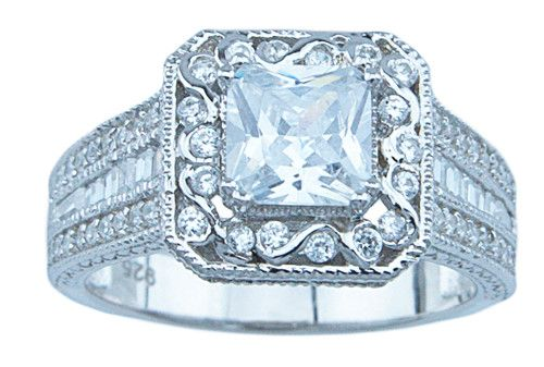 LaRaso & Co 1.25 Carat CZ Engagement Ring in Sterling Silver