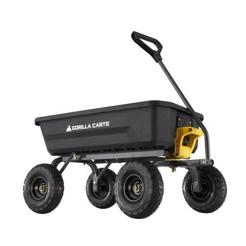 Gorilla Carts 4 Poly Yard Cart At Lowe S Enjoy The Outdoors This