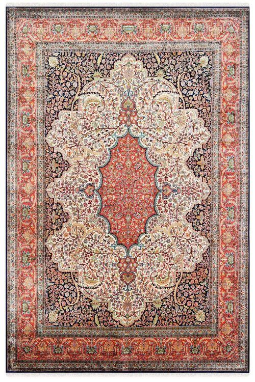 Kashmir Silk Carpets Persian And