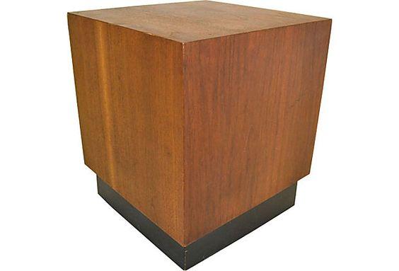 Midcentury Walnut Cube Side Table on OneKingsLane.com