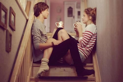 tea and chats...love it!  (plus those couples that just look like they were meant for each other.)