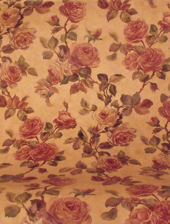 Mauve Roses Wall Paper