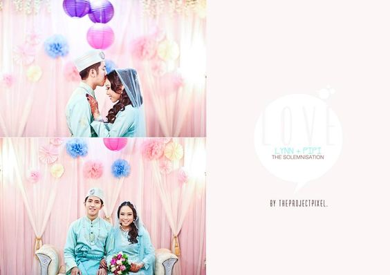 LYNN + PIPI by the project pixel. love the simple pelamin design