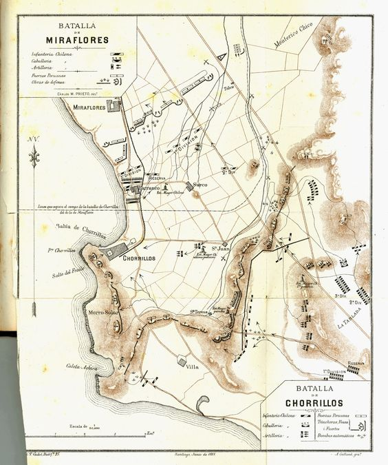 Las batallas de San Juan y Chorrillos ocurrieron el día 13 de enero de 1881, en el marco de la Guerra del Pacífico. En ellas se enfrentaron el Ejército de Chile y el Ejército del Perú. Los historia...