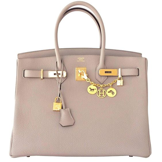 hermes birkin replica - Hermes Gris Tourterelle 35cm Togo Birkin with Gold Hardware, in a ...