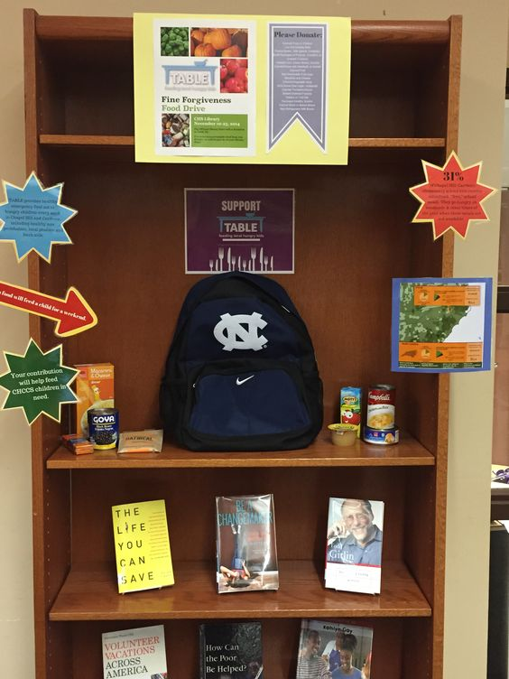 Nov. 2014 - Fine Forgiveness Food Drive to donate to www.tablenc.org