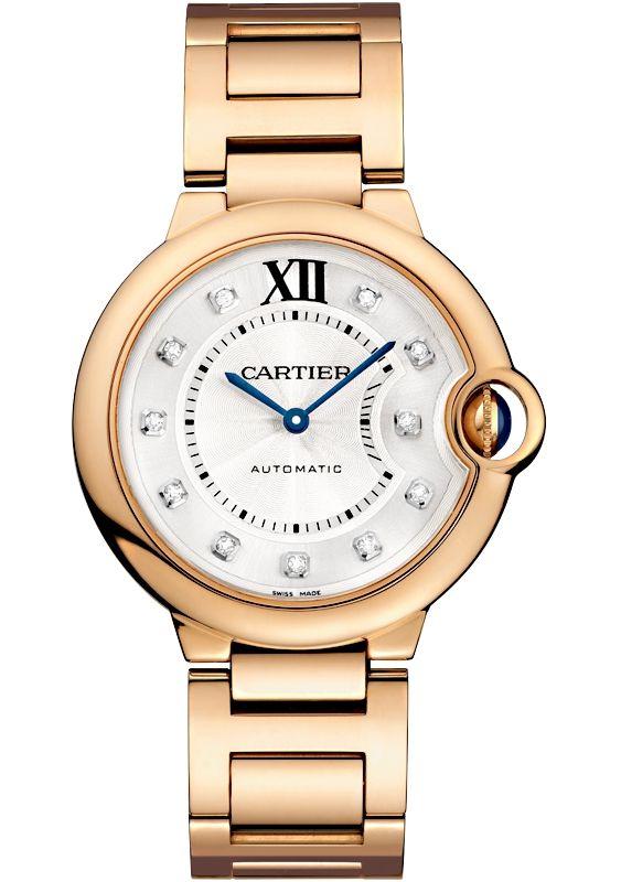Ballon Bleu De Cartier 36 Mm 18k Pink Gold Diamond Watch We902026