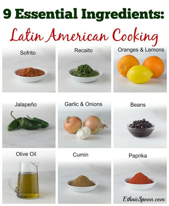 Latin american foods to eat before you die consentir comida para 9 essential ingredients in latin american cooking sofrito recaito paprika cumin beans oranges lemons jalapeo garlic onions and olive oil forumfinder Images