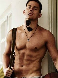 Channing Tatum - If this was waiting at the gym...I'd be there every single day. For hours.