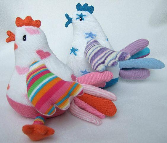 sock birdies! by sunsetgirl creations, via Flickr pic inspiration: