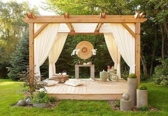 Garten Designideen - Pergola selber bauen  -
