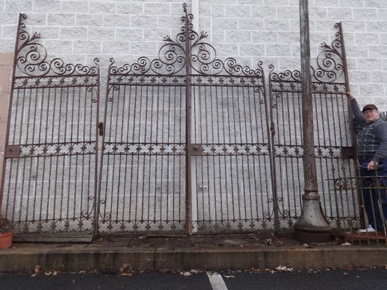 Antique Iron Fence and Driveway Gates, Tables & Beds for Sale in ...