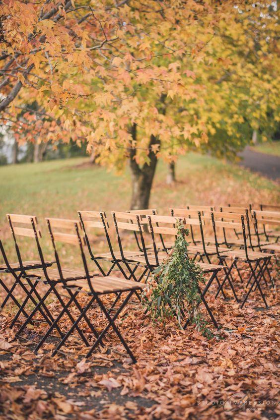 Autumn Wedding Ceremony Decoration Ideas