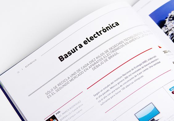 Editorial re-design for November 2012 edition for a business magazine in Juarez.