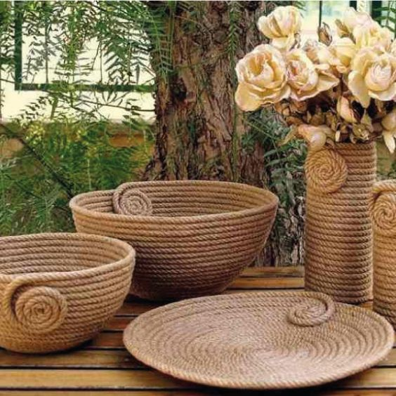 25 decoraciones para el hogar con soga o cuerda | Tarjetas Imprimibles