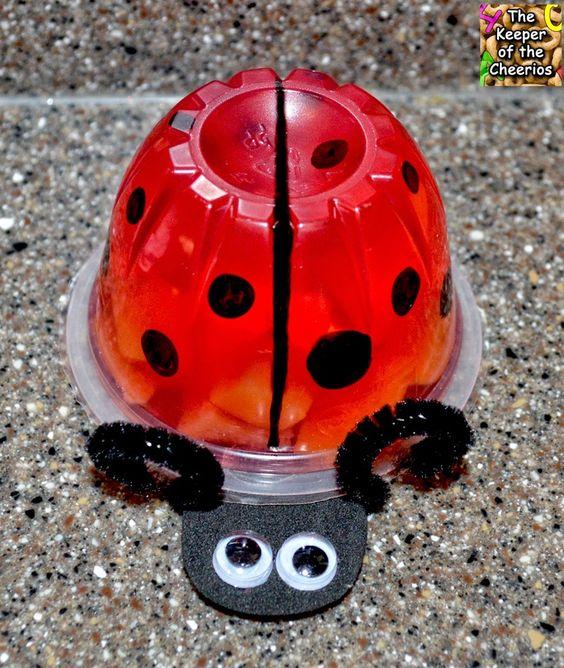 Ladybug Jello Fruit Cup-party idea