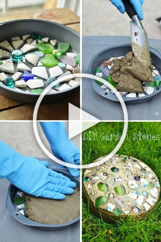 Lustige Idee Kleines Geschenk Fur Die Hausparty Oder Gartenparty Ganz Einfach Selber Machen Garden Stone Step Stone As A In 2020 Diy Garden Decor Diy Crafts To Sell Easy Diy Gifts