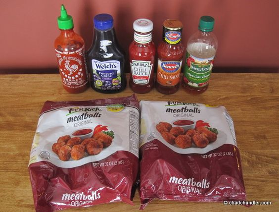 "Crockpot meatballs"" recipe, when you don't want super-sweet meatball..."