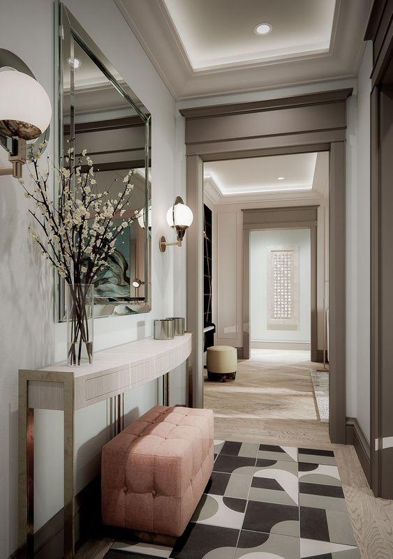Entradas Con Un Diseno De Interiores Elegante Home Entrance Decor Entrance Hall Decor Foyer Design