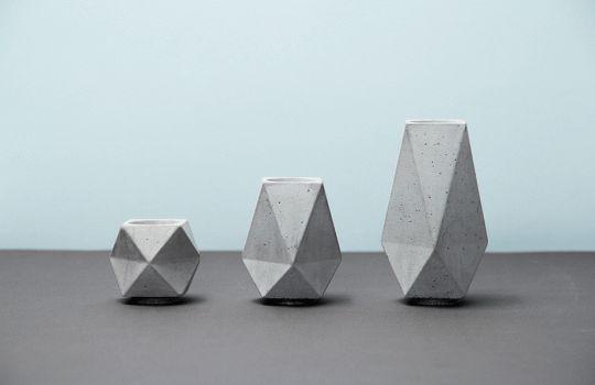 cement candle stick holders // Mizko design