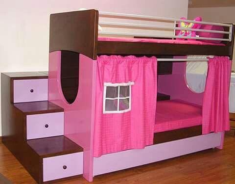 Litera para ni as habitaciones infantiles pinterest for Cuartos para ninas literas