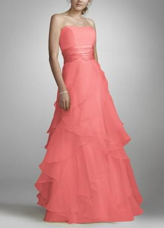 Tiered Organza Ball Gown - David's Bridal - mobile