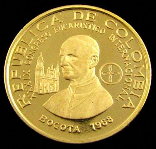Gold Coin Colombia 100 Pesos 1968 Pope Paul V1 Congr Co 821 Columbia Gold Coin 1968 Youneedtoknowaboutbitcoins Coins Gold And Silver Coins Gold Coins