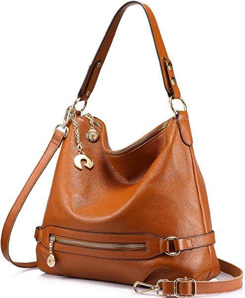 Genuine Leather Handbags For Women Large Designer Ladies Shoulder Bag Bucket Style Brown Handbags Am Leather Handbags Women Handbags Leather Hobo Handbags