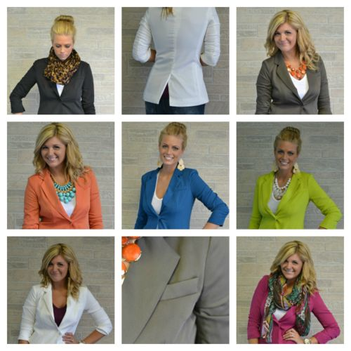Favorite Fall Blazer, Multiple Colors Perfect length and cut