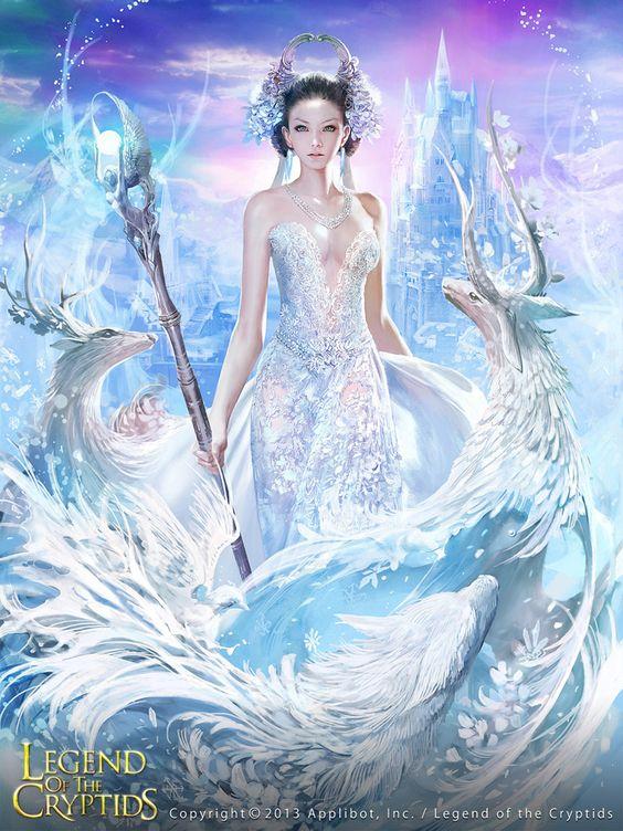 Artist: Unknown - Title: Unknown - Card: Ainoa, Wandering Frost