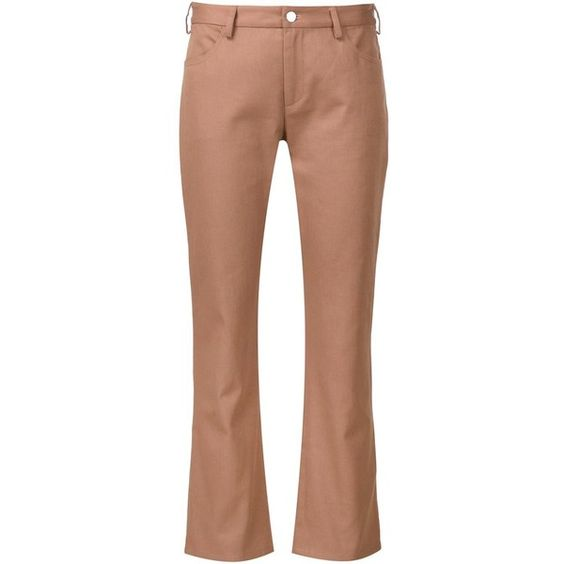 Nomia straight cropped trousers ($358) ❤ liked on Polyvore featuring pants, capris, nude, beige pants, cotton crop pants, cropped pants, cotton pants and straight pants