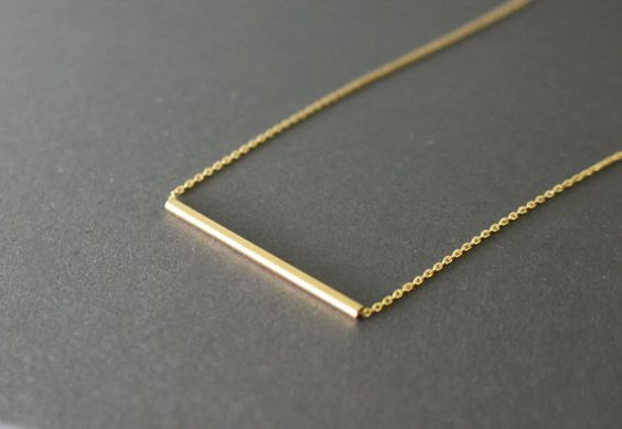 + modern and minimal + Perfect for your everyday look + dainty gold bar (fine brushed) on gold plated chain    >>>>>>>>>>>>>>>>>>>    ► Select your